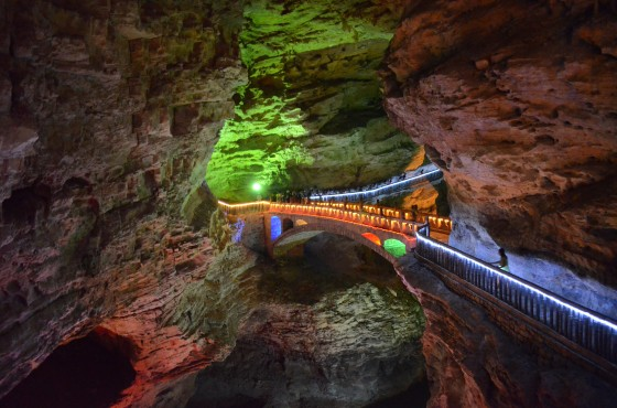 Man-made Bridge in Yellow Dragon Cave