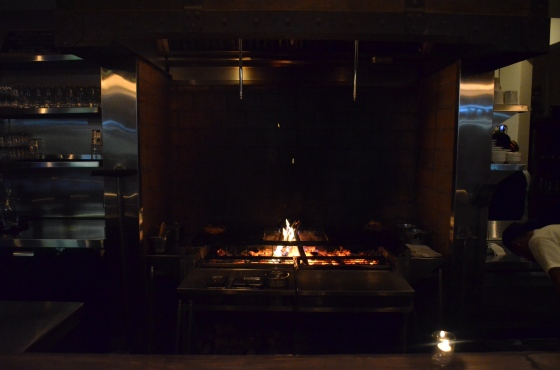 Open grill at The Spice Table