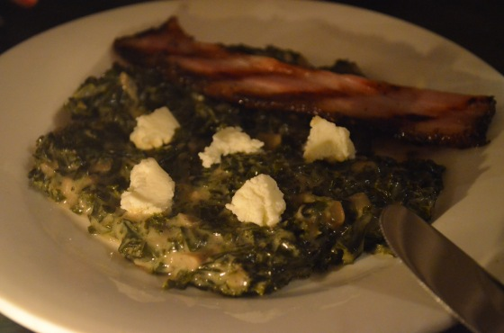Creamed kale at The Spice Table