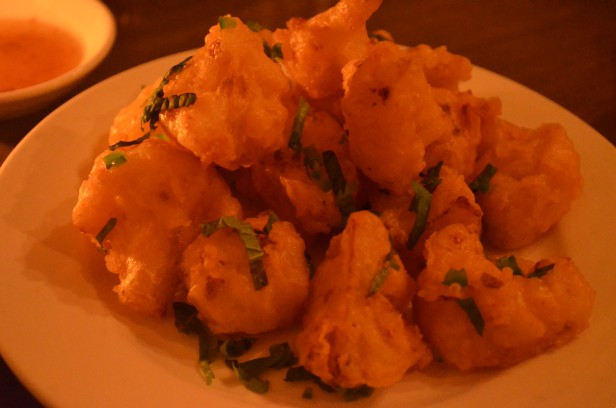 Fried cauliflower at The Spice Table
