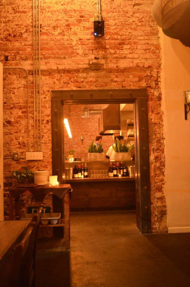 Interior doorframe at The Spice Table