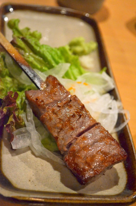 House of Haos Robataya Tokyo Japan Kobe Beef Skewer