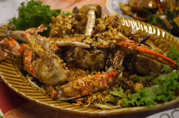 House of Haos Sri Nuan Lamai Koh Samui Thailand Garlic Pepper Crab