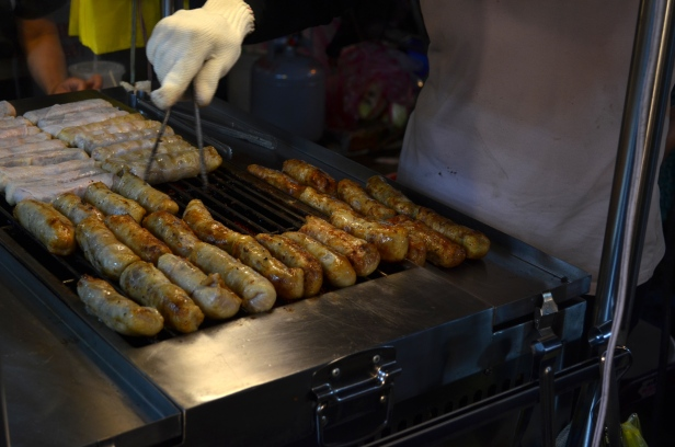 House of Haos Raohe Night Market Taipei Taiwan Sausages