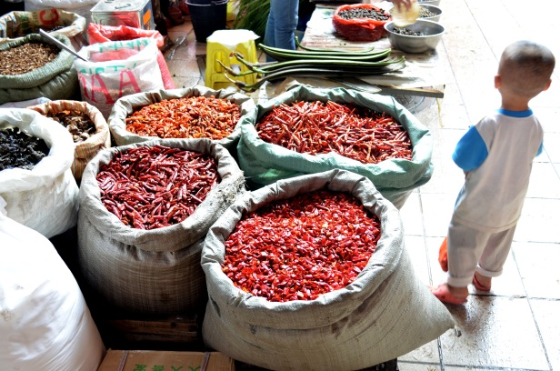 House of Haos Xishuangbanna Yunnan farmers market chili peppers