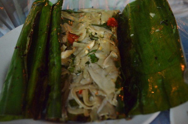 House of Haos Xishuangbanna Yunnan grilled mushrooms banana leaf