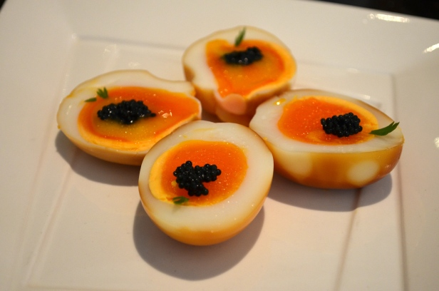 House of Haos Fu 1039 Shanghai Caviar smoked eggs