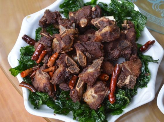 House of Haos Kunming Yunnan Haobao Organic Farm Fried Pork Ribs Chili Peppers