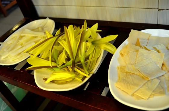 House of Haos Lao Zi Hao Mushroom Hotpot Kunming Yunnan Yellow Flowers Tofu Skin