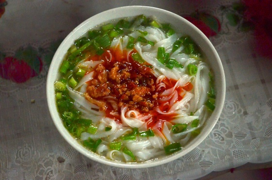 House of Haos Xishuangbanna Menghai Aini Village Breakfast Spicy Rice Noodle Soup