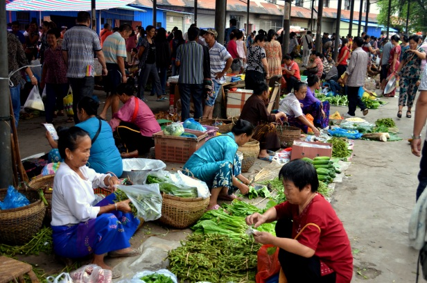 House of Haos Xishuangbanna Menghai Aini Village Market Hawker Stalls