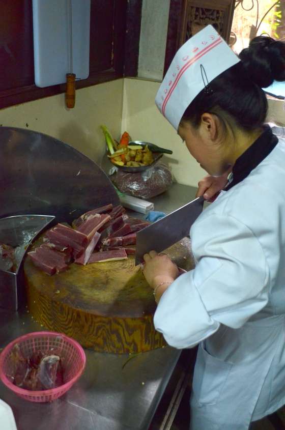 House of Haos Yi Ke Yin Kunming Yunnan Kitchen Slicing Ham