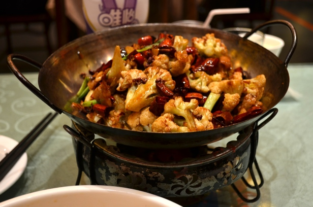 House of Haos Chengdu Sichuan China Chen Mapo Tofu Cauliflower Dry Hotpot