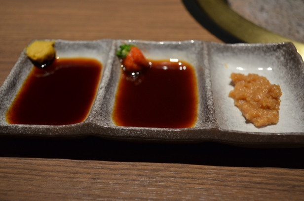 House of Haos Fukujukan Takashimaya Osaka Japan Dipping Sauces