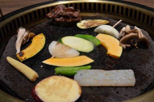 House of Haos Fukujukan Takashimaya Osaka Japan Grilling Vegetables