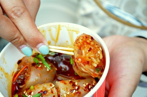 House of Haos Jinli Walking Street Chengdu Sichuan China Mung Bean Jelly Rolls