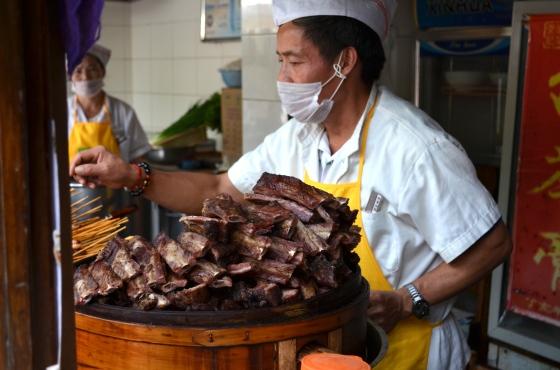 House of Haos Jinli Walking Street Chengdu Sichuan China Tea-smoked Ribs