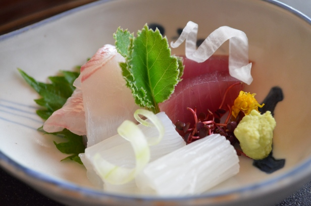 House of Haos Kashiwaya Osaka Japan Squid Sea Bream Sashimi
