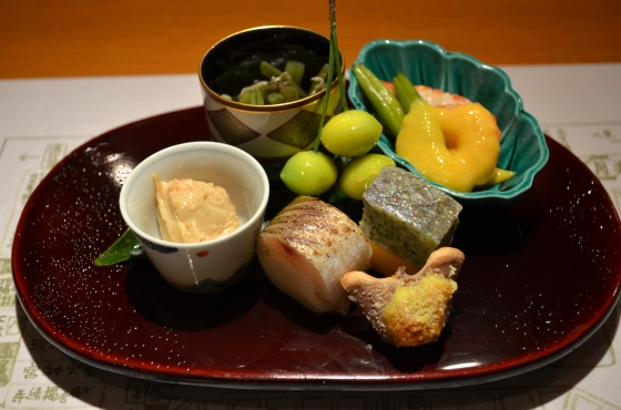 House of Haos Kigawa Osaka Japan Barracuda Sushi Ginkgo Prawn Lily Bud Uni