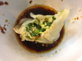 Egg and chive dumpling