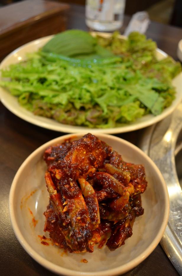 House of Haos Mapo Sutbul Galbi Gangnam Seoul Korea Marinated Crab