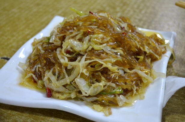 House of Haos Ming Ting Chengdu Sichuan China Glass Noodles Cabbage