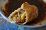 Pork and corn potstickers