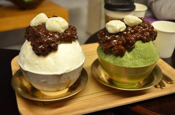 House of Haos Ok Ru Mong Seoul Korea Red Bean Green Tea Ice Cream