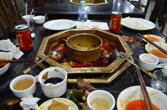 House of Haos Shu Jiu Xiang Hotpot Chengdu Sichuan China Aftermath