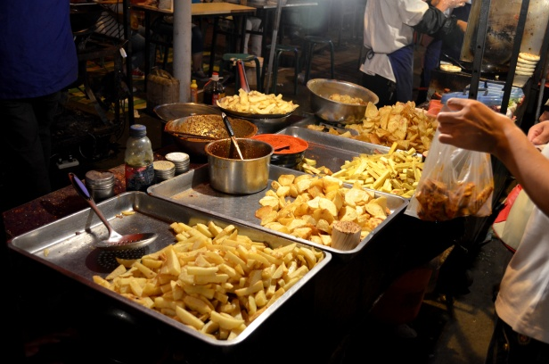 House of Haos Zheng Ning Night Market Lanzhou China Fried Potatoes