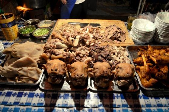 House of Haos Zheng Ning Night Market Lanzhou China Offal Sheep Heads
