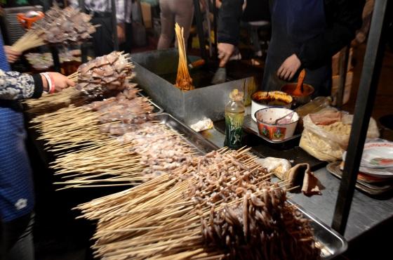 House of Haos Zheng Ning Night Market Lanzhou China Seafood Skewers