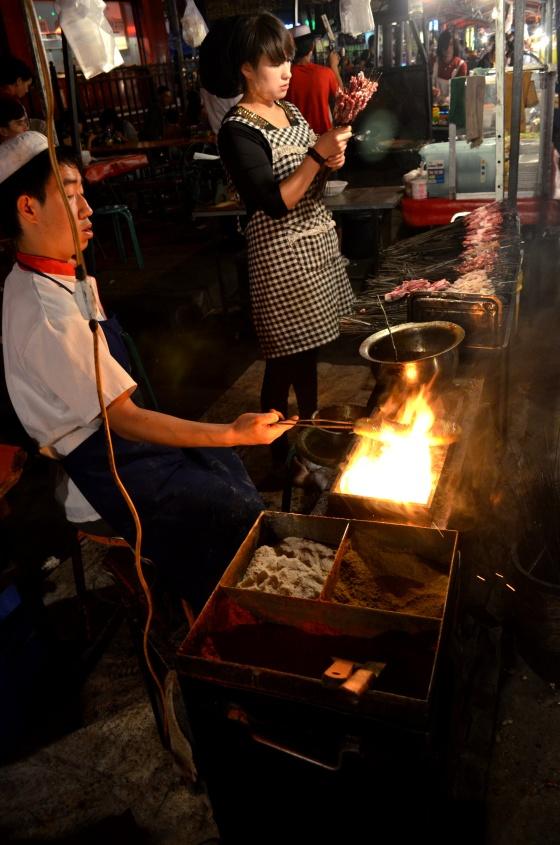 House of Haos Zheng Ning Night Market Lanzhou China Skewers