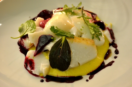House of Haos Aldea New York City Beets Sweet Corn Puree Chatham Cod