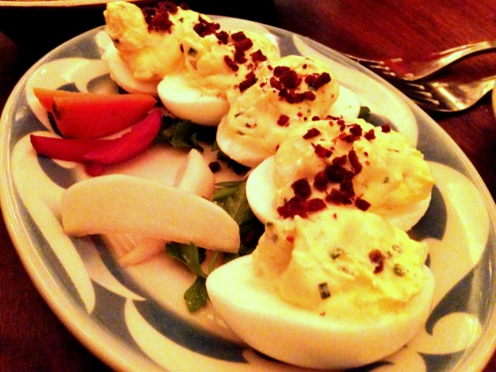 House of Haos Commerce West Village NYC New York Deviled Eggs Crispy Bacon