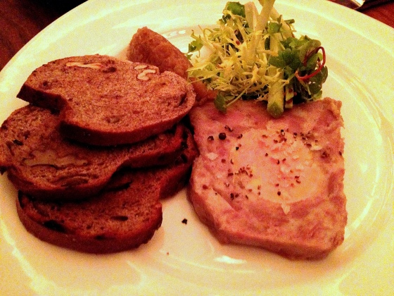 House of Haos Commerce West Village NYC New York Duck Foie Gras Rillette Terrine Sweet Onion Apple Relish