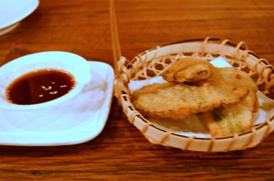 House of Haos Hanjan New York City Crispy Perilla Leaf Dumplings Shrimp Pork