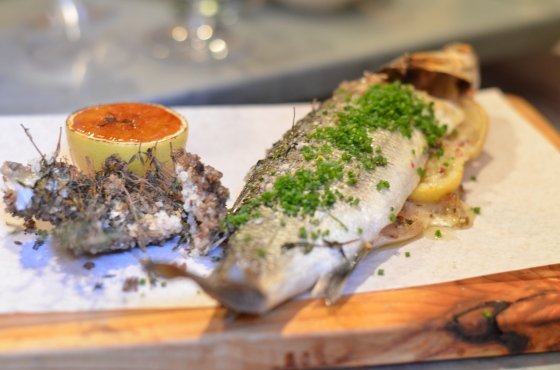 House of Haos Il Buco Alimentari and Vineria Noho New York Salt-baked Branzino