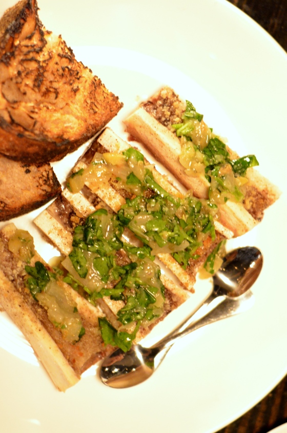 House of Haos Le Philosophe New York City Bone Marrow Shallot Lemon Capers Watercress 2