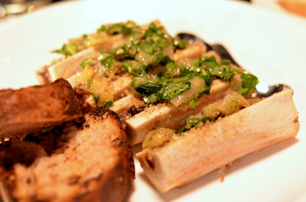 House of Haos Le Philosophe New York City Bone Marrow Shallot Lemon Capers Watercress