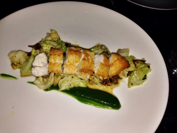 House of Haos Le Philosophe Noho NYC New York Roasted Monkfish Tarragon Savoy Cabbage Roasted Mushrooms