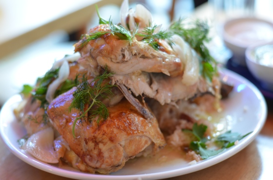 House of Haos Mission Cantina Lower East Side NYC New York Rotisserie Chicken for Two