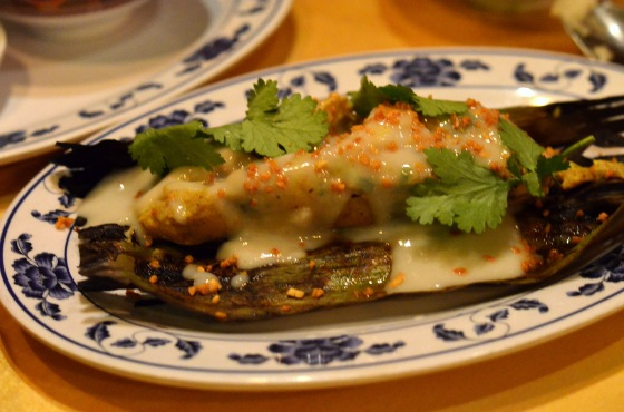 House of Haos Pig and Khao New York City Cod in Banana Leaf