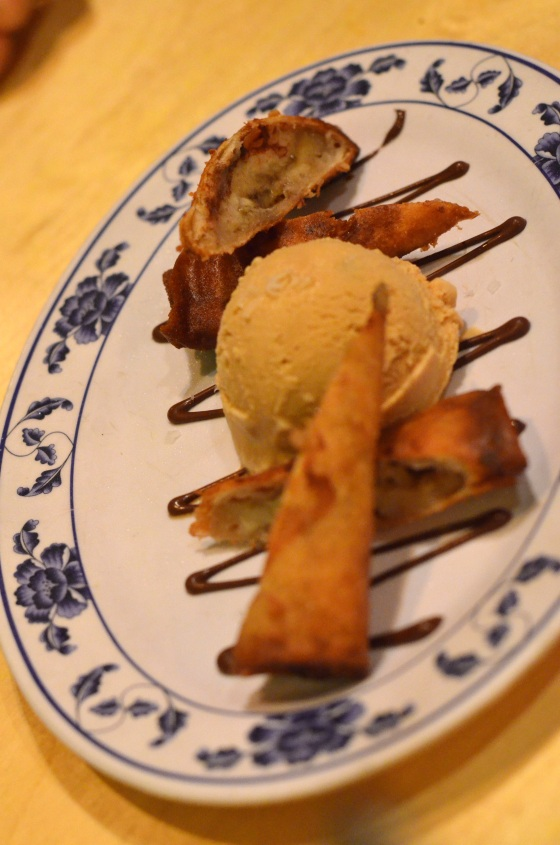 House of Haos Pig and Khao New York City Turon Banana Fritter Salted Caramel Ice Cream