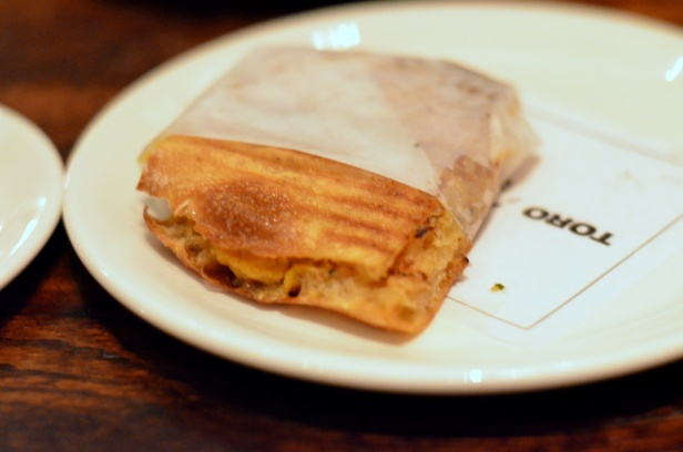 House of Haos Toro Chelsea NYC New York Bocadillo of Uni Miso Butter Pickled Mustard Seeds