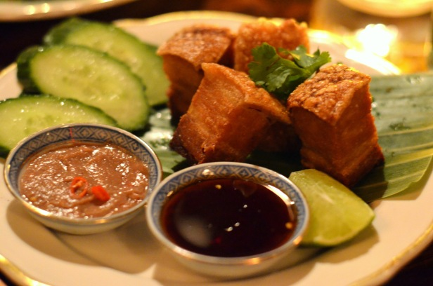 House of Haos Uncle Boons New York City Muu Tod Crispy Pork Belly Shrimp Paste Fish Sauce
