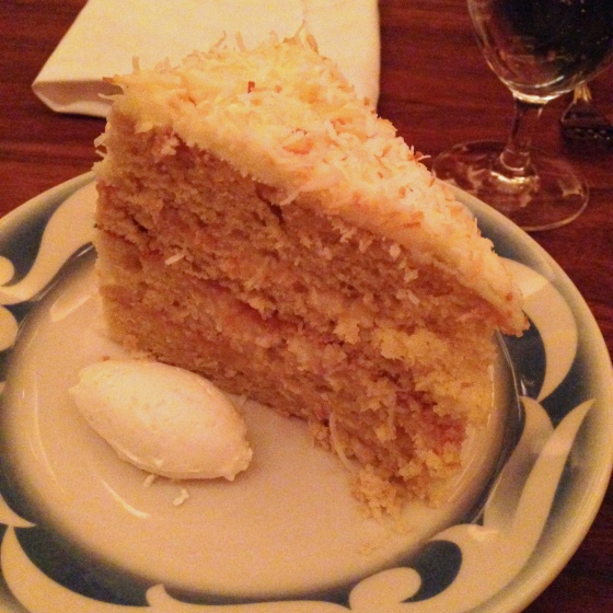 House of Haos Commerce Restaurant New York Best Coconut Cake