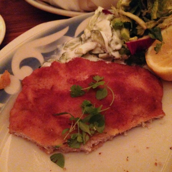 House of Haos Commerce Restaurant New York Pork Schnitzel