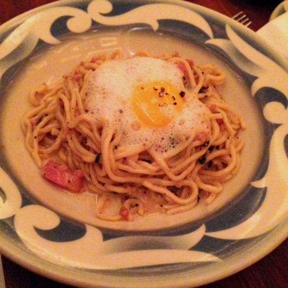 House of Haos Commerce Restaurant New York Spaghetti Carbonara