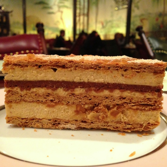 House of Haos Laduree Cafe Paris France Millefeuille Praline